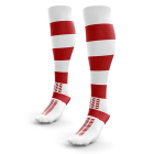 White Red Hooped Rugby Socks